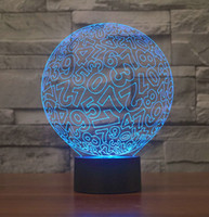 acrylic table numbers - Novelty Ball Shape With Numbers D LED Night Light Acrylic Color Dimming Kids Baby Bedroom USB Table Lamp Chrismas Gift Toys
