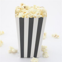 Wholesale Eco friendly high quanlity striped paper popcorn box for wedding decoration party supply