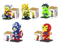 Wholesale Kids Building Toys The Avengers D Diamond Blocks Learning Educational blocks Captain America Iron Man For Intelligence kids gifts