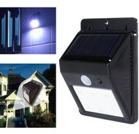 Wholesale Solar Powered Waterproof IP65 LED Outdoor Lighting Lamp LEDs Street Light Wall Garden Lamp Solar sensor Wall light