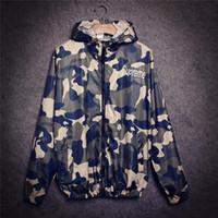 Wholesale Fall Hiphop Harajuku Fashion Jacket New Tide Brand Camouflage Outdoor Jacket Streetwear Men Windbreaker Zipper Coats Outwear