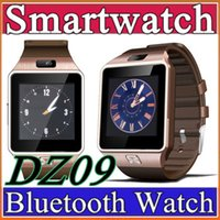 Wholesale Smartwatch Latest DZ09 Bluetooth Smart Watch With SIM Card For Apple Samsung IOS Android Cell phone inch