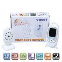 Wholesale Infant GHz Wireles Baby Radio Babysitter Digital Video Baby Monitor Audio Night Vision Music Temperature Display Radio Nanny