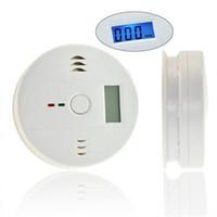 10pcs precio barato de fábrica de suministro CO monóxido de carbono de envenenamiento de gas detector de humo detector detector de alarma detector LCD con caja de venta al por menor
