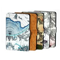 amazon map - For Amazon Kindle paperwhite inch Map Top quality New Arrival Magnetic Leather Case Cover Ereader stand case