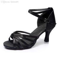 Wholesale Colors Gorgeous Women s Lady s Girl s Latin Tango Salsa Ballroom Heeled Dance Shoes CM Heel High