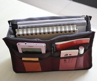 Wholesale DHL Insert Purse Cosmetic Storage Organizer Bag Handbag Makeup Tidy Travel Collection Organizer colors