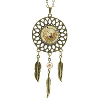american alloy wheels - 2016 Trendy Style Bill Cipher Wheel Necklace Steam punk Drama Falls Mysteries Silver Dream catcher Necklace DC