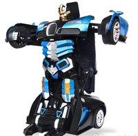 Wholesale 2016 The Hot Sale remote control car children electric toy car deformation robot Bumblebee robot toys for children car remote control robot
