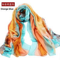 acrylic chenille yarn - KS Women s Polyester Scarf Large oversize Chiffon Silk Feeling Shawl Graphic Painted Shawl Wraps Beach Swimsuit Bikini Cover Up Plus Si