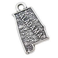 Charms alabama accessories - Jewelry Making Accessories Alloy American State Of Alabama Map Shape Charms Pendant AAC052