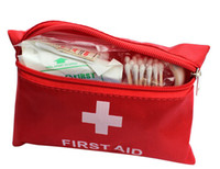 Wholesale 100pcs New Arrival Hot Sale Emergency First Aid Kit Bag One Set Pack Travel Sport Survival jy517