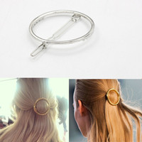 Pinces à cheveux ronds Avis-Bijoux clip gros-Circle Lip Triangle Pin cheveux Hairpin Barrettes femmes Fille Cheap Fashion Or Argent Hair Metal Round AccessoryHP022