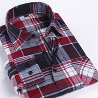 Wholesale 2016 Menswear mens imported clothing men long sleeve shirt male plaid shirts brand camisa casual chemise slim fit striped shirt