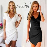 Cheap 2016 China factory hot skinny Womens Sexy big V- neck Short Dress Laydies Sleeveless valentino snidel lace looking thinner