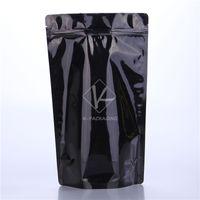 Wholesale 100 x30cm Black Stand Up Mylar Foil Bags Standing Foil Packaging Bags Zip Lock Plastic Foil Packaging