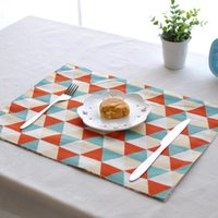 Wholesale Northern Europe Insulated Traycloth TableNapkin Double Deck Linen cm Placemat Dinner Cloth Hot Sale EuropeStyle Home Textiles MOQ