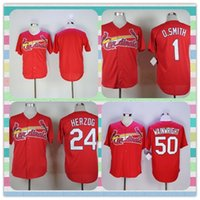 adam wainwright jersey - New Product Men s St Louis Cardinals Baseball Jersey Ozzie Smith Whitey Herzog Adam Wainwright Blank Red Jerseys