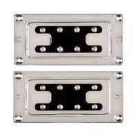 bass humbucker - Chrome Humbucker Bridge Neck Set Pickups for Rickenbacker Bass Guitar Parts C4