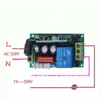 Wholesale LED SMD Light Power ON OFF AC220V CH wireless switch M RF Receiver amp Transmitter A Latched Add controller freely