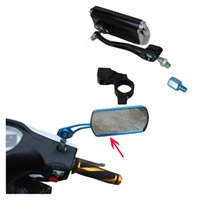 Wholesale 1 Second Version Expanded Motorcycle Bicycle Rearview Mirror Reflector Rectangle Mirror Wide Angle Horizon With Holder