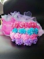 Wholesale New fashion yarn garland Solid new children s jewelry pearl flower wreath Girls Head Pieces wreath Korean veil headdress a mail bag
