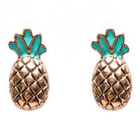 Wholesale Bijoux Femme Earring Minimalist Cute Pineapple Earrings For Women Brincos Stud Earrings Fashion Jewelry xr160793