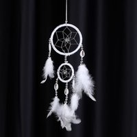 Wholesale Lovely Handmade Dream Catcher Net Shell Bead Real Feather Home Hanging Decoration Car Ornament quot Diameter quot Long