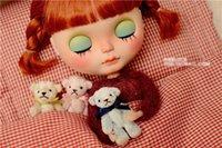 baby blue teddy - Lovely mini teddy bear plush stuffed doll baby bear for BJD BLYTHE DAL AZONE LICCA OB doll accessories
