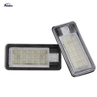 Wholesale 2Pcs SMD LED Number License Plate Light for Audi A3 s3 A4 s4 A6 c6 Q7 Rs