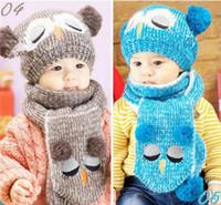 Wholesale Multicolor Caps Baby Infant Toddler Portable Popular Set Winter Baby Hat Boy Girl Kids Warm Hat Cap Scarf Baby Hat Owl