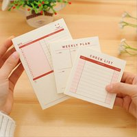 Wholesale Pieces Korean Creative Stationery Notepad Office Supplies WEEKLY PLAN Filofax Notebook Diary