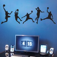 basketball wall decorations - Basketball Man Boys Wall Stickers Sports Wallpaper Wall Decals Art Kids Boys Room Home Decorations WS229