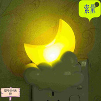 Wholesale Cartoon plug Nightlight children room energy saving light controlled intelligent LED induction lamp bedside lamp wall lamp manufacturers