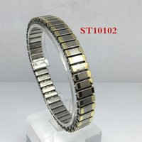 Wholesale 2016 Two Tone Stainless Steel Cuff Extension Bangle Bracelet Fashion Jewelry Multipe Style For Women Girl MM MM MM