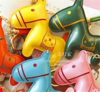 al por mayor bolsa de juguetes de cuero-Lovely Key Chain Bag / Teléfono Decoraciones Juguetes Tamaño 10,5 * 11 cm PU Cuero Poco Animal 20 PC mucho