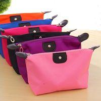 Wholesale Women Cosmetic Bag Makeup Bags Waterproof Nylon Organizer Bag colors Dumpling Type Bag Outdoor Packing Cubes Toiletry Bag Bolsos de Mujer