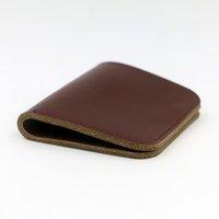 Wholesale Original Genuine Leather Slim short wowen Wallet Money Clip ID Credit Card Holder Passcase open Purse