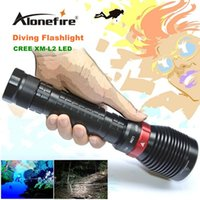 Wholesale XY001 Underwater Diving Flashlight Torch XM L2 LED Light Lamp Waterproof Lm L2 LED Light by Battery For Driving