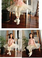 Wholesale Childrens Skirt Leggings Baby Clothing Child Shorts Girls Lace Tights Skinny Pants Fashion Bowknot Princess Leggings Kids Culottes