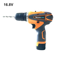 Wholesale V Household Double Speed Cordless Drill Electric Screwdriver Rechargeable Power Tools One Lithium Battery Plastic Box