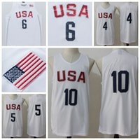 Wholesale USA Olympic Basketball Jerseys Cheap Basketball Jerseys USA Olympic Basketball Shirts USA Olympic Basketball Wears Uniform