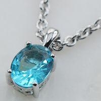 aquamarine studs - Aquamarine Sterling Silver Stud Pendant PP05 This item Min order is