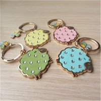 animal lamb - 12Pcs Creative Sheep key chains lovely Lamb Key Rings Women bag accessories Good gifts for friends