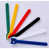 Wholesale 6 Ultrathin Cable Ties Back To Back Cerclage Band Hook Loop Power Wire Management Magic Tape Sticks Ties