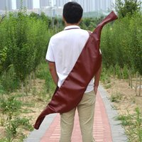 Wholesale 58 inch Archery Traditional Bow Bag Outdoor Hunting Hunter Holder PU Leather Recurve Hunting Bow Case