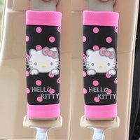 Wholesale New Arrival set Hello Kitty Bow Car Seat Belt Cover Cartoon Car Interior Accessories Colors