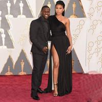 award business - Inspired by Oscar Awards Black Man Formal Tuxedos Tailcoat Groom Formal Wear Business Groomsman Wear Beaded