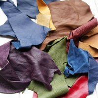 Wholesale Small Broken DIY Handcraft Material Scraps Leather Random Color about g