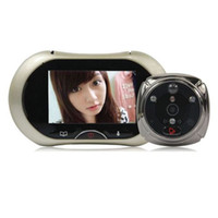 Wholesale 3 quot Touch Screen Digital Peephole Video Viewer IR Motion Detect Camera Doorbell